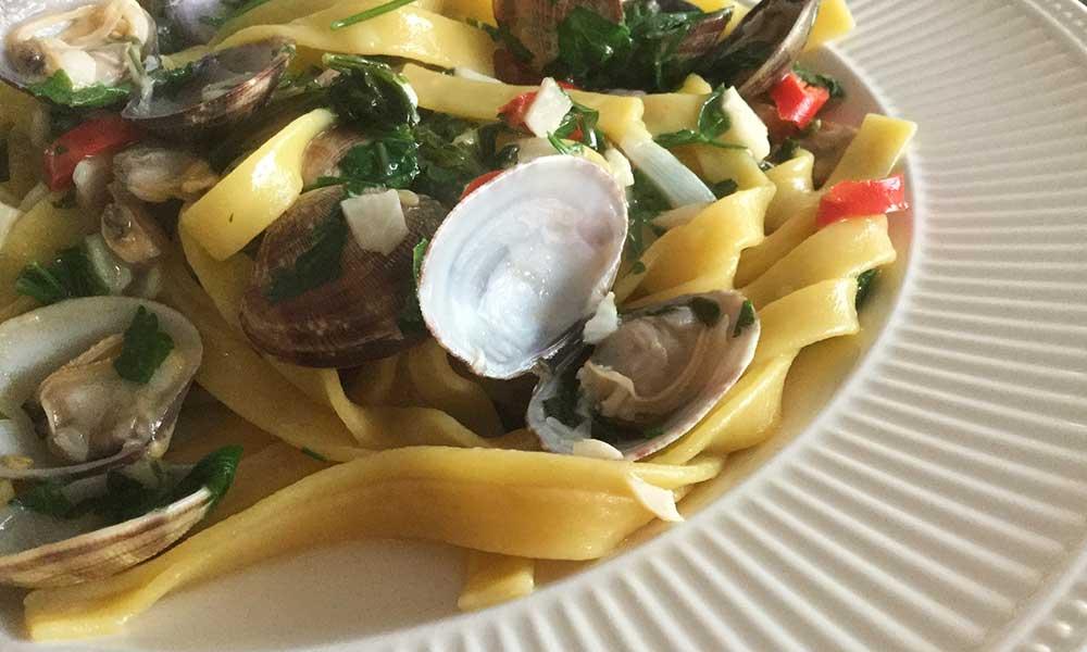 Recept-Glutenvrije-pasta-vongole-Chef-Ernst