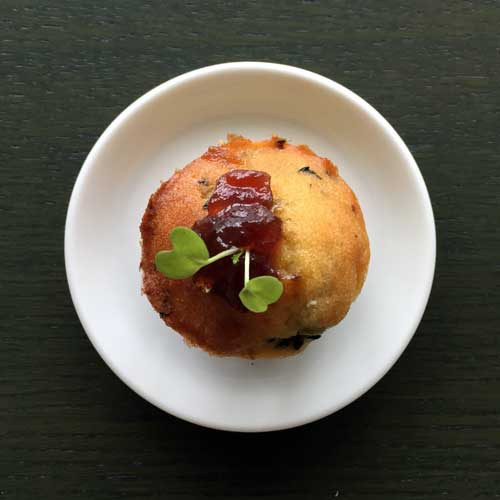 amuse glutenvrij cake kaas olijven