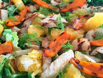 Salade met gegrilde venkel en sinaasappel