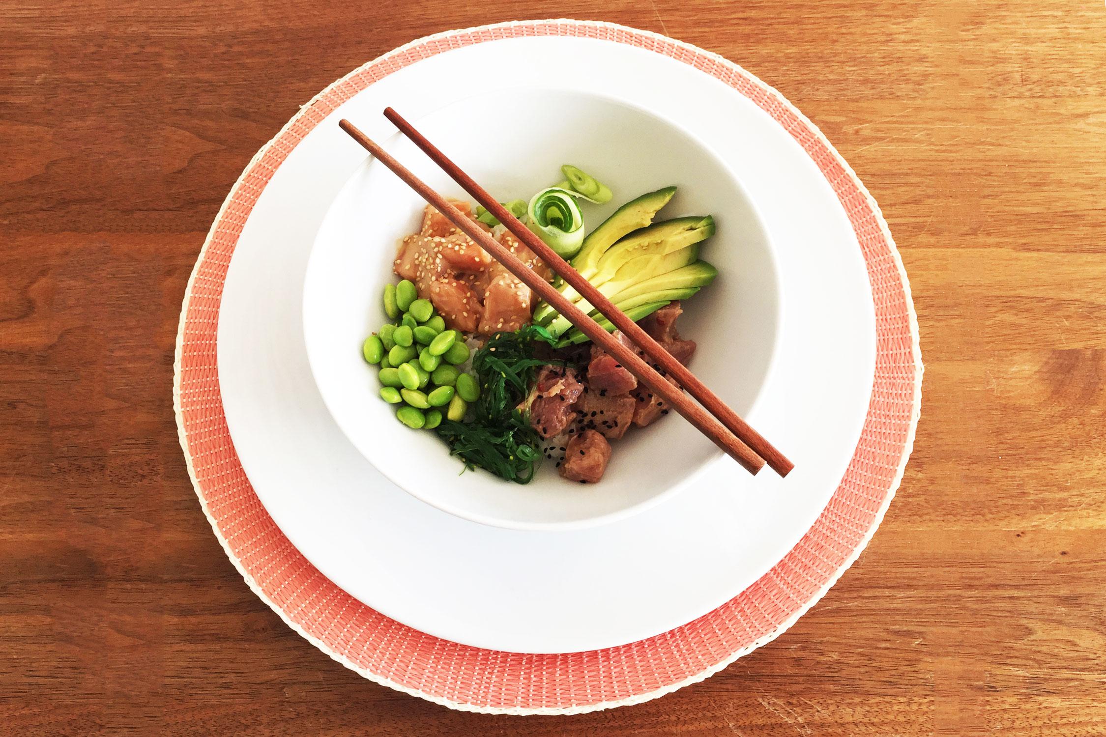 1f3712e8787 Poké bowl met zalm en tonijn - Chef Ernst