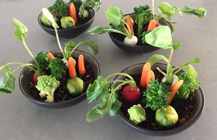 groentetuintje van baby groente