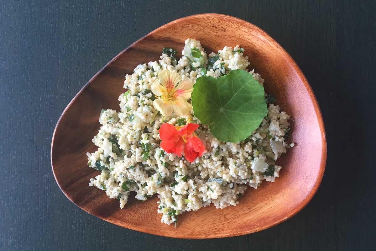 Quinoa salade met Oost-indische kers